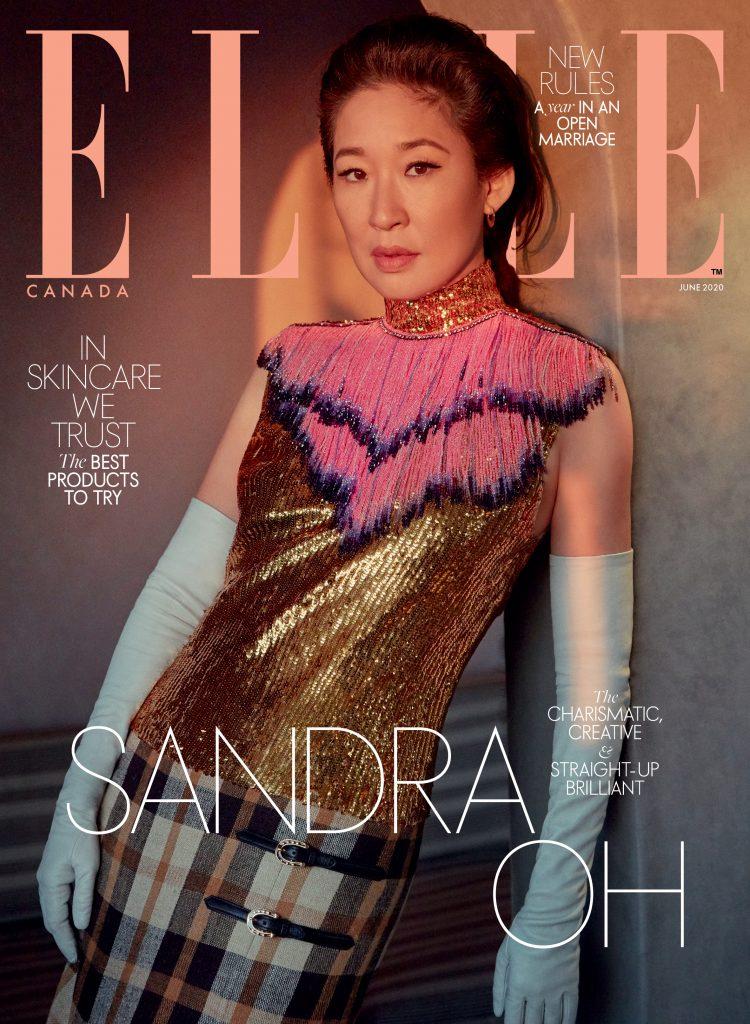 Sandra Oh For Elle Canada June 2020