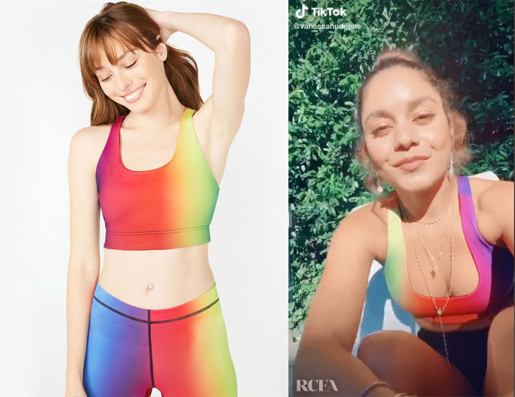 Vanessa Hudgen's Terez Vision Rainbow Reversible Sports Bra
