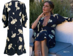 Victoria Beckham's Victoria Beckham V-neck Draped Sleeve Dress