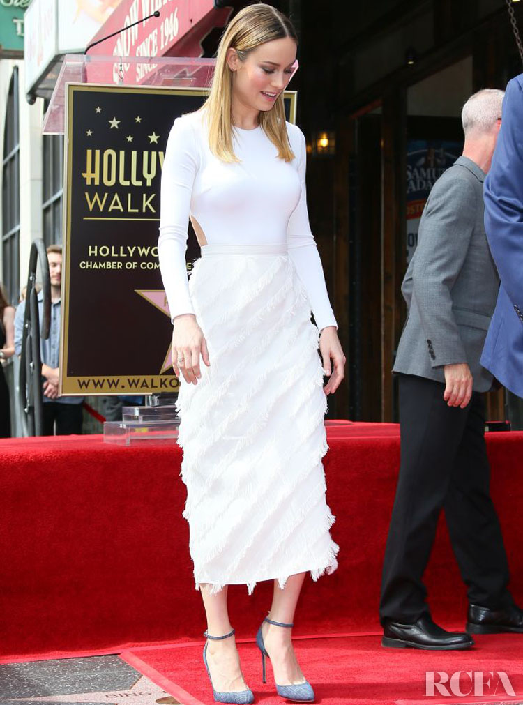 Brie Larson In Cushnie et Ochs – John Goodman Honored With Star On The Hollywood Walk Of Fame