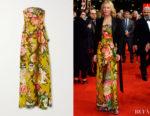 Cate Blanchett's Dries van Noten Strapless Floral Gown