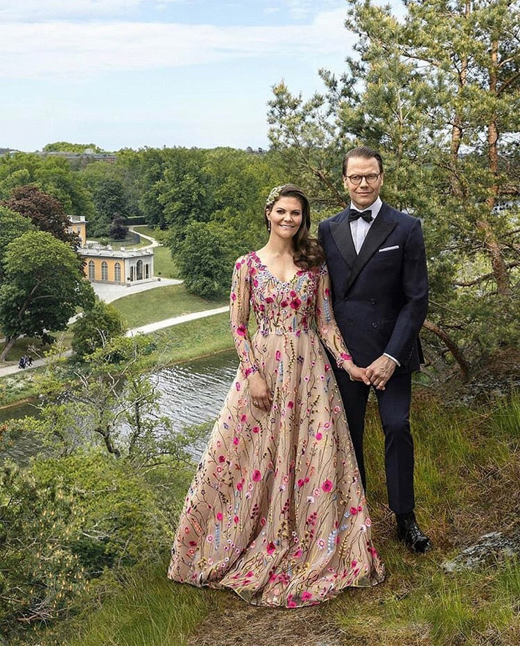 Crown Princess Victoria Celebrates Her 10th Wedding Anniversary In Frida Jonsvens Couture, H&M & Elie Saab Haute Couture
