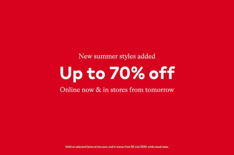 Get Up To 70% Off In The H&M Summer Sale