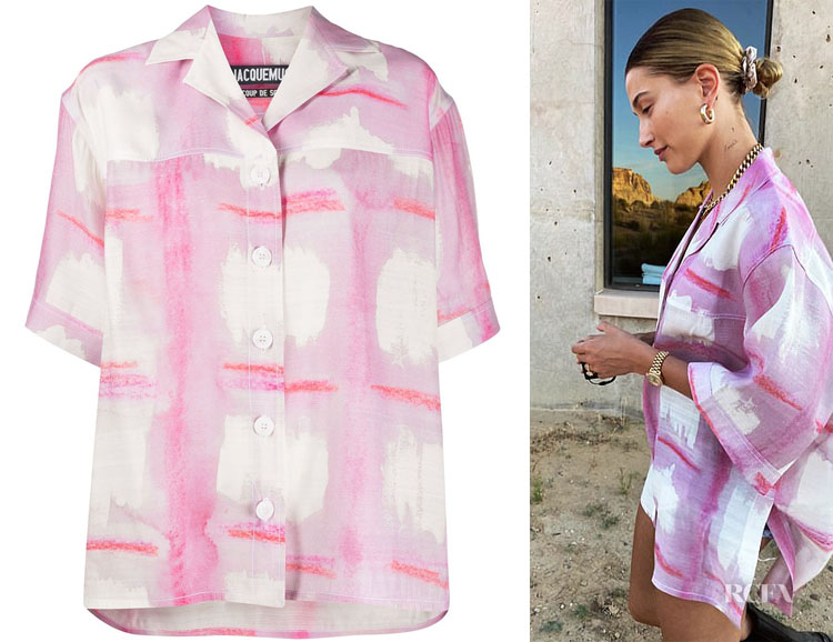 Hailey Bieber's Jacquemus Le Chemise Vallena Shirt