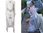 Kylie Jenner's Dion Lee Long Sleeve Bandana Knot Dress