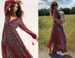 Millie Mackintosh's Free People Happy Feelings Midi Dress