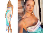 Alessandra Ambrosio's Retrofête Marlene Dress