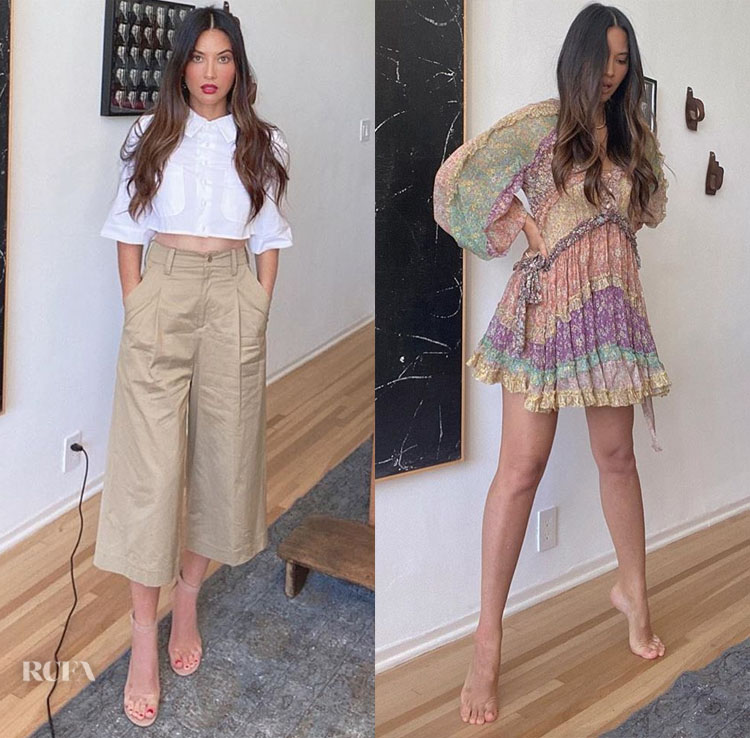 Olivia Munn's At Home Zoom Style For The Kelly Clarkson Show