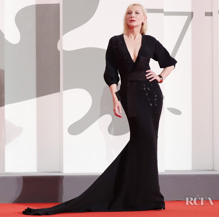 Cate Blanchett Wore An Armani Prive Recycled Look To The 'Spy No Tsuma' Venice Film Festival Premiere