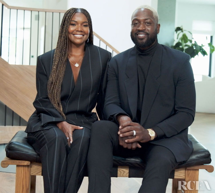 Gabrielle Union & Dwyane Wade Wear FEAR OF GOD Exclusively for Ermenegildo Zegna For The TIME 100 Broadcast Event