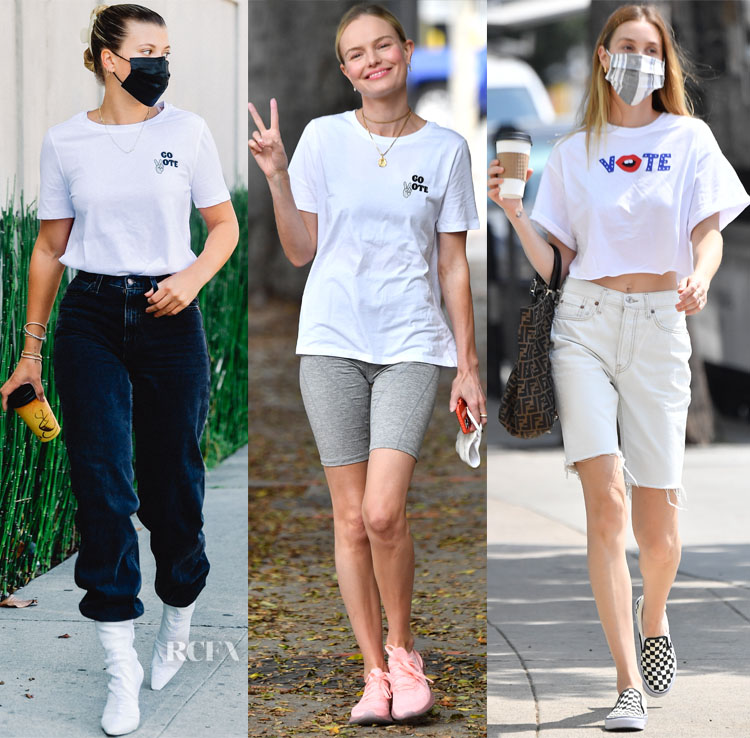H&M Voting Initiative Tees Worn By Sofia Richie, Kate Bosworth & Whitney Port