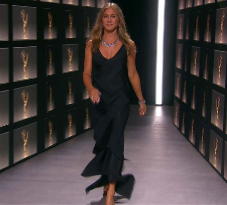 Jennifer Aniston Wore John Galliano for Christian Dior To The 2020 Emmy Awards