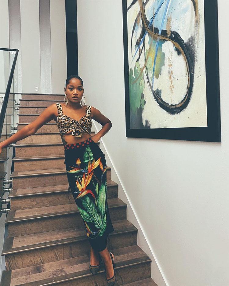 Keke Palmer Was Instaglam In Dolce & Gabbana