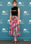 Maya Hawke Wore Versace & Atelier Versace For The 'Mainstream' Venice Film Festival Photocall & Premiere
