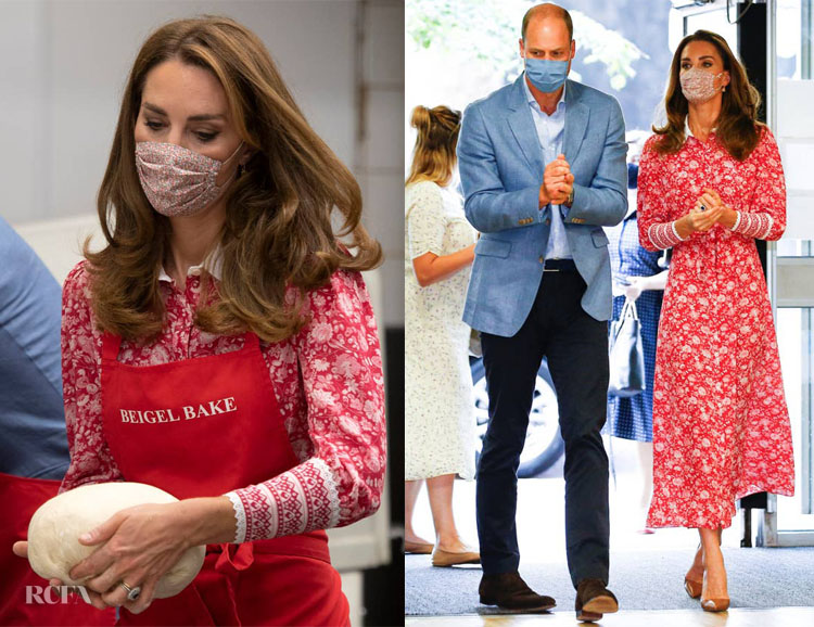 Catherine, Duchess of Cambridge Wore Beulah London For The Beigel Bake Visit